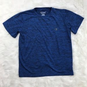[Champion] Heather Blue Athletic Tee Size L Large